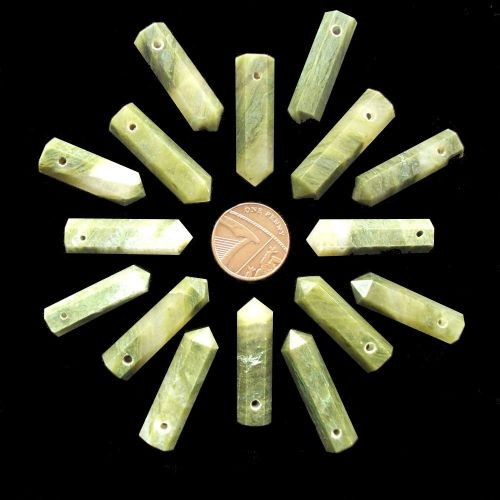 Vesuvianite Side Drilled Hexagonal Wand ST Point